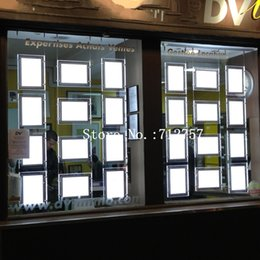 Wholesale Wholesale Poster Light Box - 16PCS A4 +8PCS A3 LED Window Display System,Real Estate Agent Window Hanging LED Poster Display Frames Light Boxes