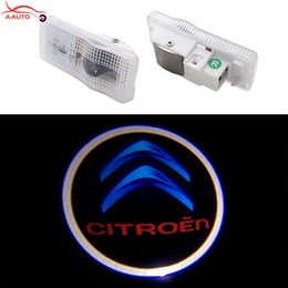 Wholesale C3 Picasso - 2pcs LED Car Door Welcome Light Laser Emblem Logo Projector For Citroen C4 C5 C3 C2 Xsara Picasso Saxo Xsara Xantia Dispatch