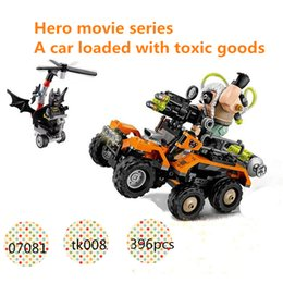Wholesale Presents Batman Figure - The Avengers Super heroes Batman ben's Highly toxic truck Building Action figure Blocks Bricks Toys birthday present