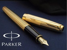 Wholesale fountain free - Free Shipping High Quality Original Parker Brand Office Executive Fountain Pen Fast Writing High Quality Metal Fountain Pen