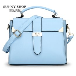 Wholesale Ladies Sunny - Wholesale-SUNNY SHOP Summer Style Flap Women Bags Small Candy Colour Shoulder Bags Fresh Women Messenger Bag Gifts For Teenage Girls