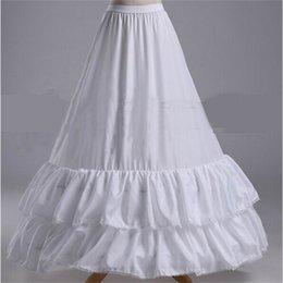 Женские платья для свадьбы онлайн-Новый юбки для свадьбы события белый 2 обручи 2 слоя вечернее платье Свадебные кринолин свадебные аксессуары Леди девушки нижняя юбка