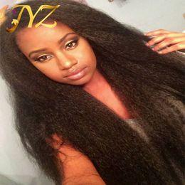 Kinky Düz Tam Dantel Peruk İnsan Saç Dantel Peruk Bebek Saç Tam Siyah Kadınlar Için dantel Peruk Virgin İnsan Saç Peruk Düz cheap kinky straight virgin full lace wig nereden kek dümdüz bakire dolu dantel peruk tedarikçiler