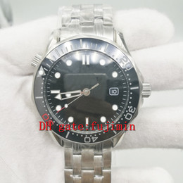 Wholesale Black Sapphire Bracelet - Mens luxury brand sea Watches ceramic beze sapphire glass men watch black dial stainless steel bracelet AAA quality replicas wristwatch 301