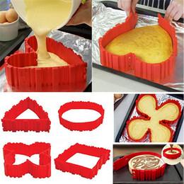 Wholesale Magic Snake Shapes - Silicone Cake Mould DIY Baking Tools Magic Snake Heart Shape Cakes Moud Set Home Kitchen Articles 9 9ak C R