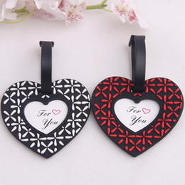 Wholesale airplane decorations - New Arrival Heart Airplane Luggage Tag Wedding Supplies Heart Baggage Tag Wedding Favors And Gift Unique Wedding Decorations