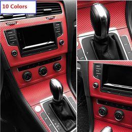 Wholesale Volkswagen Mirrors - 50cmx127cm Muti-Functional 3D Carbon Fiber Vinyl Car Film Car stickers for VolkswagenGolf Polo Passat Tiguan SAGITAR JETTA CC Beet