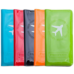 Wholesale Business Travel Tickets - Waterproof Passport Holder Cover PVC ID Card Ticket Organizer Case Women Men Card Holder Passport Cover Travel Business Card Holder ZG0126