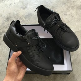 Wholesale Genuine Leather Bags For Sale - 2017 Hot sale superstar quality men and women sneakers,zanottys black leather high-top fashion for casual shoes,original box and dust bag