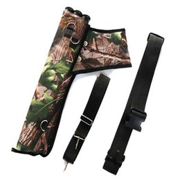 Wholesale Arrow Quivers - 3 Tube Ultralight Hunting Training Camo Archery Arrow Quiver Holder Bow Belt Shoulder Bag Pouch Waist hanged Shoulder Hanged (Leaves Camo)
