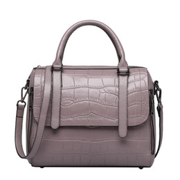 Wholesale Leather Handbags Usa - Women Handbags Fashion Shoulder Bag First Layer Leather Tote Bags with Alligator Pattern Popular in USA