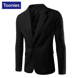 Wholesale Clothing Design Business - Wholesale- 2017 New Business Casual Blazer Men Single Button Brand Clothing Blazer Masculino Slim Fit Costume Homme Cool Men Blazer Designs