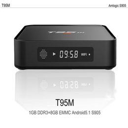 Wholesale Top Pc Wholesalers - T95M Direct TV Set Top Box Android6.0 TV Box Amlogic S905X Quad Core Smart Mini PC 1G 8G 4K Streaming Google Media Player