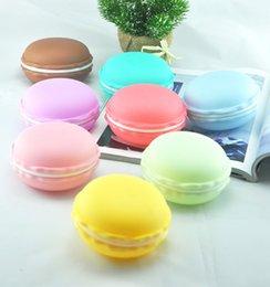 Wholesale Pill Candy - Wholesale gifts box Cute Candy Color Macaron Mini Cosmetic Jewelry Storage Box Jewelry Box Pill Case Birthday Gift Display