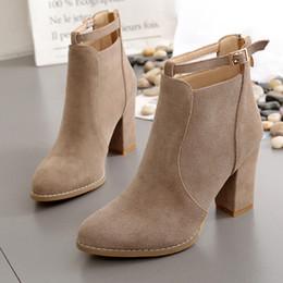 Wholesale Sexy Platform Ankle Boots - Fashion women ankle boots winter sexy women boots high heels zipper platform Women autumn boots ladies shoes black block heels
