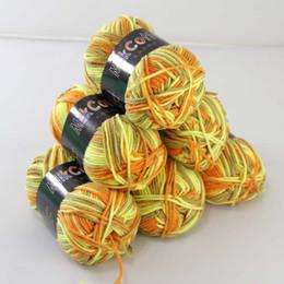Weiche 6ballsx50g NewCotton gefärbt Handstricken Wollsocken Schal Baby Garn Blau Lila Mischte 10 von Fabrikanten