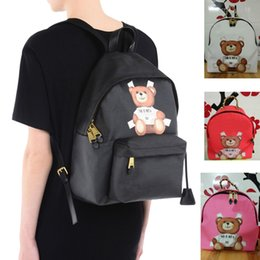Wholesale Lady Style Toys - Women's Backpack Classic Fashion M Brand Double Cute Cartoon Bear Double Shoulder Bags Toy Back Pack M*schin* Students School Bags - M009