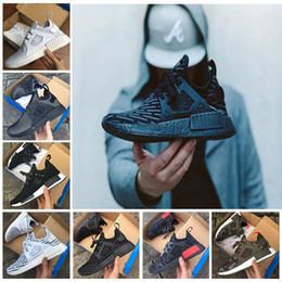 Wholesale Women Shoes Skull - New NMD XR1 Running Shoes Mastermind Japan Skull Fall Olive green Camo Glitch Black White Blue zebra Pack men women sports shoes 36-44