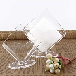 plastic acrylic sheets Coupons - Wholesale- Acrylic Clear Tissue Box Transparent plastic tissue box vertical display napkin paper box fashion paper towel holder