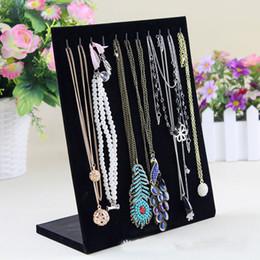 Wholesale Pvc Necklace - Jewelry display jewelry Black suede necklace display shelf Jewelry Stand Vertical necklace display shelf free shipping