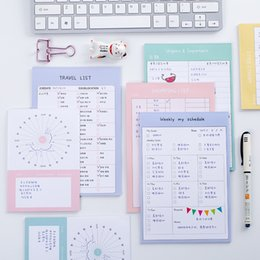 Wholesale Travel Planner Book - Wholesale- 2017 new colored Kawaii can teard Weekly Monthly Work Planner Book Diary Agenda Filofax office shopping list travel records list