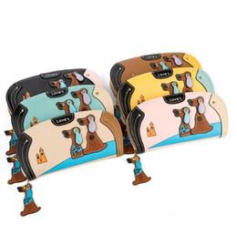 корейские кошельки для мужчин Скидка Мода женщины милый щенок бумажник мультфильм собака искусственная кожа женщины кошелек дамы сцепления молния длинные карты держатель Бесплатная доставка