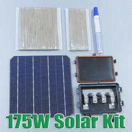 Wholesale Tab Solar Cell - bus Hot Sale 175W DIY Solar Panel Kit 6x6 156 Mono Monocrystalline solar cell tab wire Bus wire Flux pen Junction
