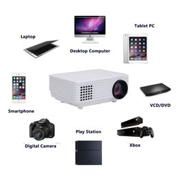 Wholesale Cheap Wireless Hdmi - Wholesale-2016 LED 1080P Projectors 800 Lumens Red Blue 3D Beamer Home Theater Video Maltimedia projectors Cheap Miracast Wireless Display