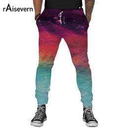Wholesale Galaxy Harem Pant - Wholesale- Galaxy Space 3D Joggers Men Women Unisex Pants Fashion Pockets Harem Pants Full Length Trousers Elastic Waist with Drawstring
