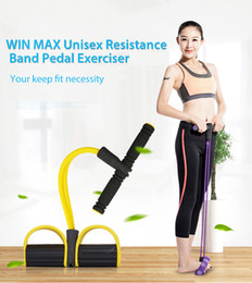 Wholesale Fitness Equipment Women - WIN MAX Sit Up Pull Rope Yoga Body Fitness Band Pedal Exerciser Elastic Band for Men Women Pedal Exerciser Fitness Equipment +B