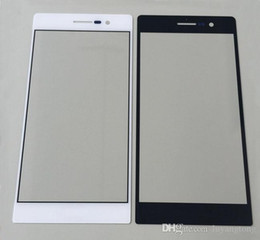 Wholesale Huawei P6 Free Shipping - Huawei P9 Replacement LCD Front Touch Screen Glass Outer Lens for Huawei p6 p7 p8 outer glass Free Shipping