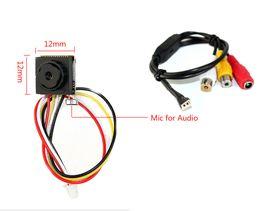 Wholesale Mini Camera Wired Monitor - Mini Wired 600tvl Color Camera Home Security System Color Monitor Micro Monochrome CMOS Camera
