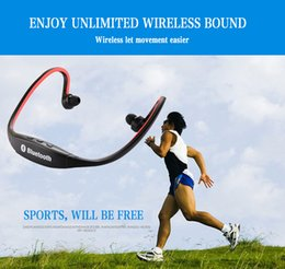 Wholesale Ip Earphone - S9 Sport Wireless Bluetooth 3.0 Earphone Headphones headset for ip 6 galaxy S5 S4 Android with microphone