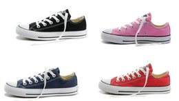 Wholesale Low Price Sneakers - Fast shipping size 35-45 Factory price promotional price!femininas canvas shoes women and men,high Low Style Classic Canvas Shoes Sneakers