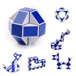 Wholesale Snake Kids - Magic Snake Shape Toy Creative Ruler Game 3D Cube Puzzle Twist Puzzle Educational Toy Gift Random