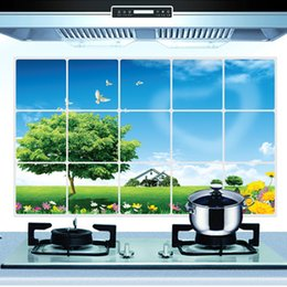 Wholesale Plane Oil - Big Tree Kitchen Oil Stickers Kitchen Anti-Smoke Stickers Decorative Wall Stickers Home Decoration Art Decals Mural