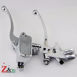 """Wholesale Chrome Brake Clutch Levers - Universal Individual Custom Characters chrome 1"""" 25mm Motorcycle Handlebar Brake Clutch Master Cylinder Levers"""