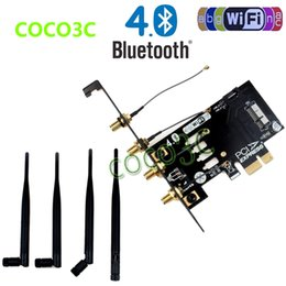 Wholesale Pci Gigabit Network Card - Wholesale- Laptop Wireless Network Card adapter PCI-e to 3G bluetooth 4.0 WIFI BCM94360CD module for macbook Pro Air
