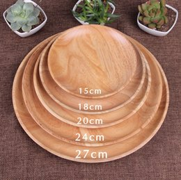Round Wooden Plates For Restaurant Natural Wood Tray Serving Small Large Japanese Dishes Tableware Free Shipping & Shop Wooden Trays Wholesale UK   Wooden Trays Wholesale free ...