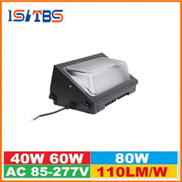 Wholesale Bright Hid Lights - CREE Chips 40W 60W 80W Outdoor Led Wall Pack Lighting 110LM W Super Bright Led Wall Lamp Mounted Lights Replace HID Lamp 85-277V