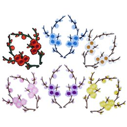Canada 6 Paire Blossom Patchs Brodés pour Vêtements Manteau Fer sur Transfert Applique Patch pour Robe Sacs DIY Coudre sur Broderie Autocollant supplier blossoming embroidery Offre