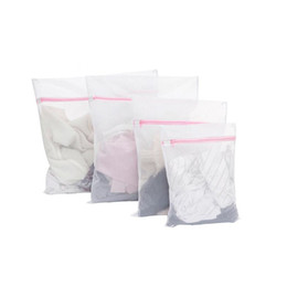 Wholesale Zip Socks - 30*40CM Washing Machine Specialized Underwear Washing Bag Mesh Bag Bra Socks Lingerie Zipped Laundry Bags ZA5055