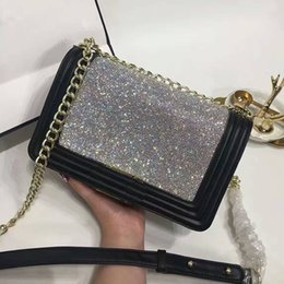 Wholesale Designer Handbags Crystal - designer handbags high quality women famous brands flap bag luxury Diamond crystal party bags chain shoulder crossbody bags purse