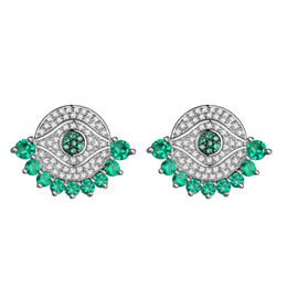 Canada KIVN Bijoux De Mode Spiritual Evil Eye Pave CZ Zircon De Mariée Mariage Boucles D'oreilles pour les Femmes Offre