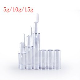 Wholesale Glass Skin Care Container - 15g empty eye cream airless pump small plastic travel bottle, vacuum airless cosmetic container , skin care cream sample bottles