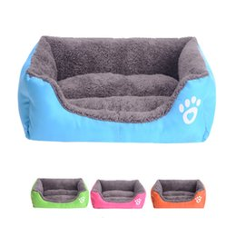 Wholesale Houses Color - Warm Pet bed for Dog Cat House Soft Pet Nest Candy Color Dog Beds for Fall and Winter camas de perros Free Shipping