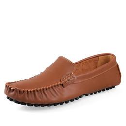 Wholesale Comfy Shoe Brands - Hot Sale Cow Leather Men Shoes Soft Moccasins Loafers Fashion Brand Men Flats Comfy Driving Shoes Big Size