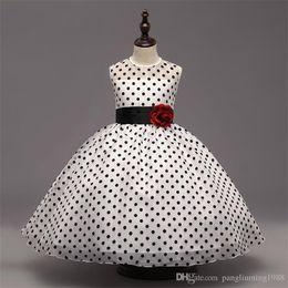 Wholesale New Flower Ribbon Design - 2017 new kids frock designs simple design girls frock flower girl 5 year old girl dresses