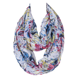 Wholesale Gold Ring Pops - 2017 Pop Fashion Colorful Scarfs Rings Flag pattern Floral Pattern Printing Women Loop Infinity Hajjab Shawls Size:180*60cms