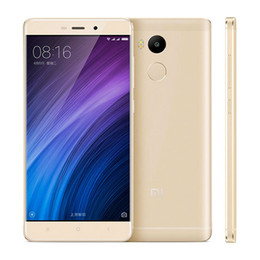 Wholesale 2gb Micro Usb - 4G LTE Xiaomi Redmi 4 Touch ID 2GB 16GB 64-Bit Octa Core Qualcomm Snapdragon 430 Android 6.0 5.0 inch IPS 1280*720 HD 13MP Camera Smartphone